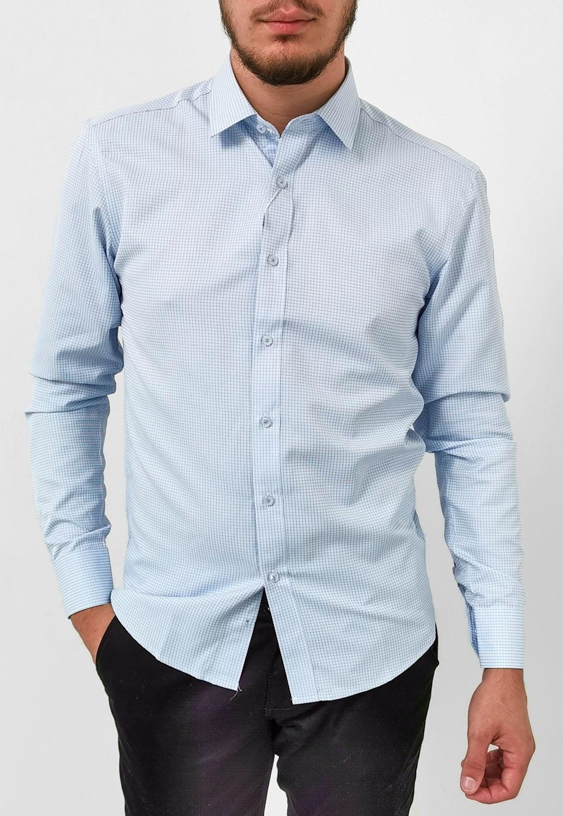 Camisa Vivacci Slim Xadrez Azul