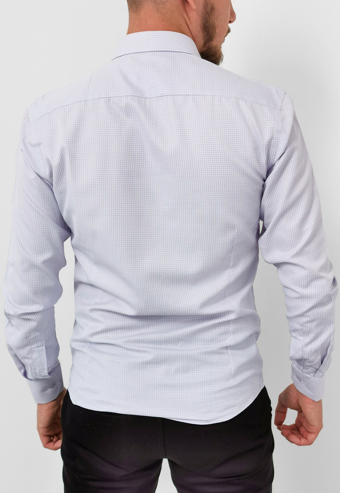 Camisa Vivacci Slim Xadrez Lilás