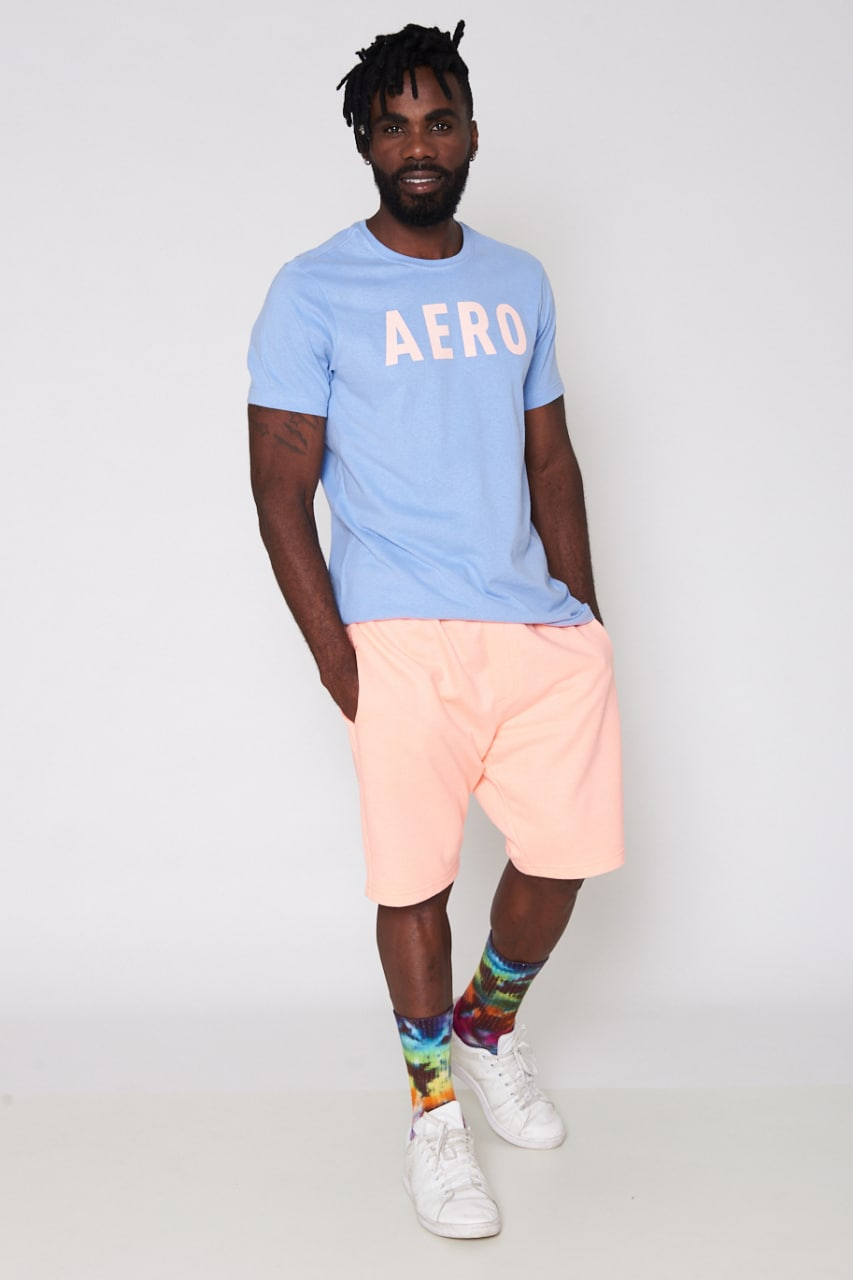 Camiseta Aéropostale Slim Azul AERO