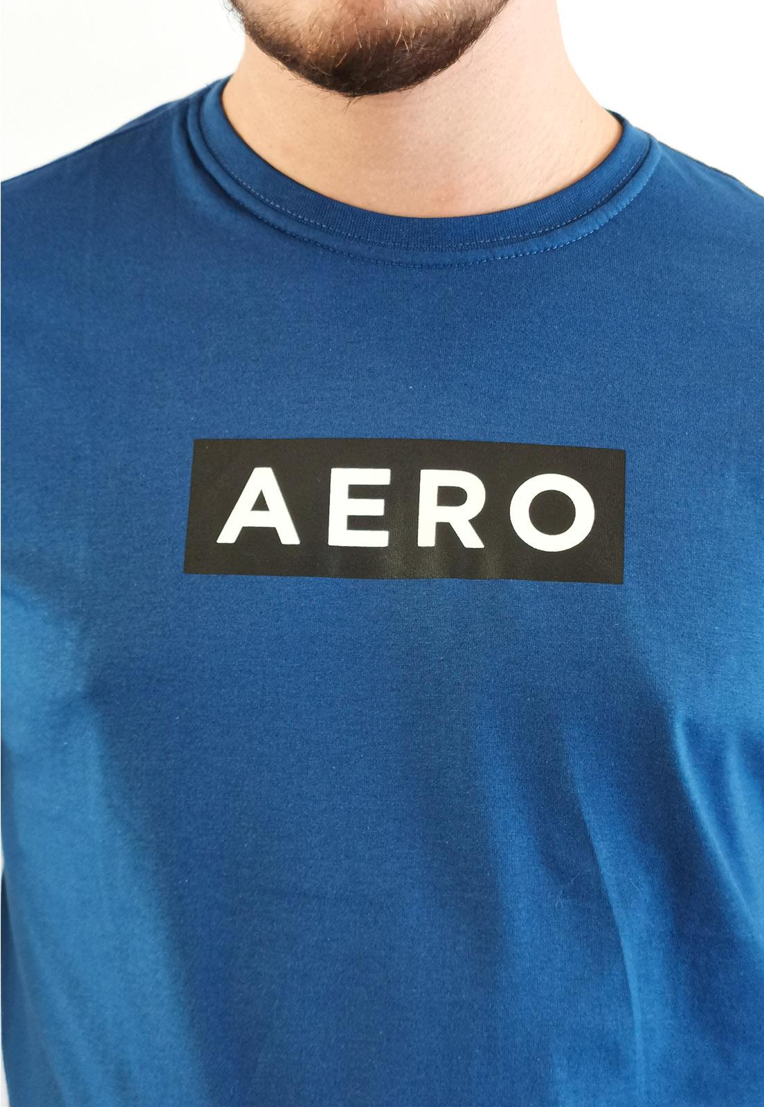 Camiseta Aéropostale Azul Escuro Logo