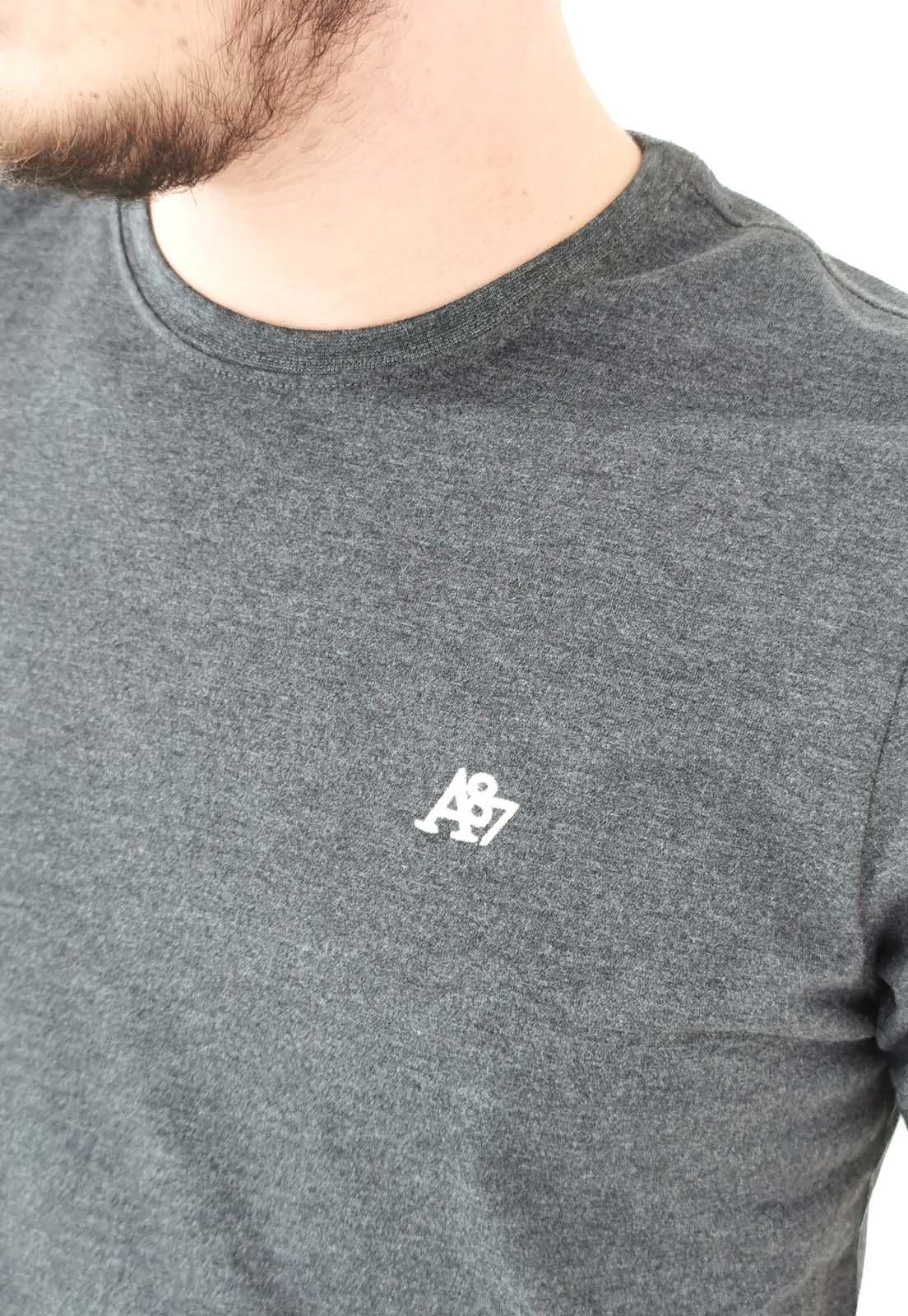 Camiseta Aéropostale Básica Chumbo