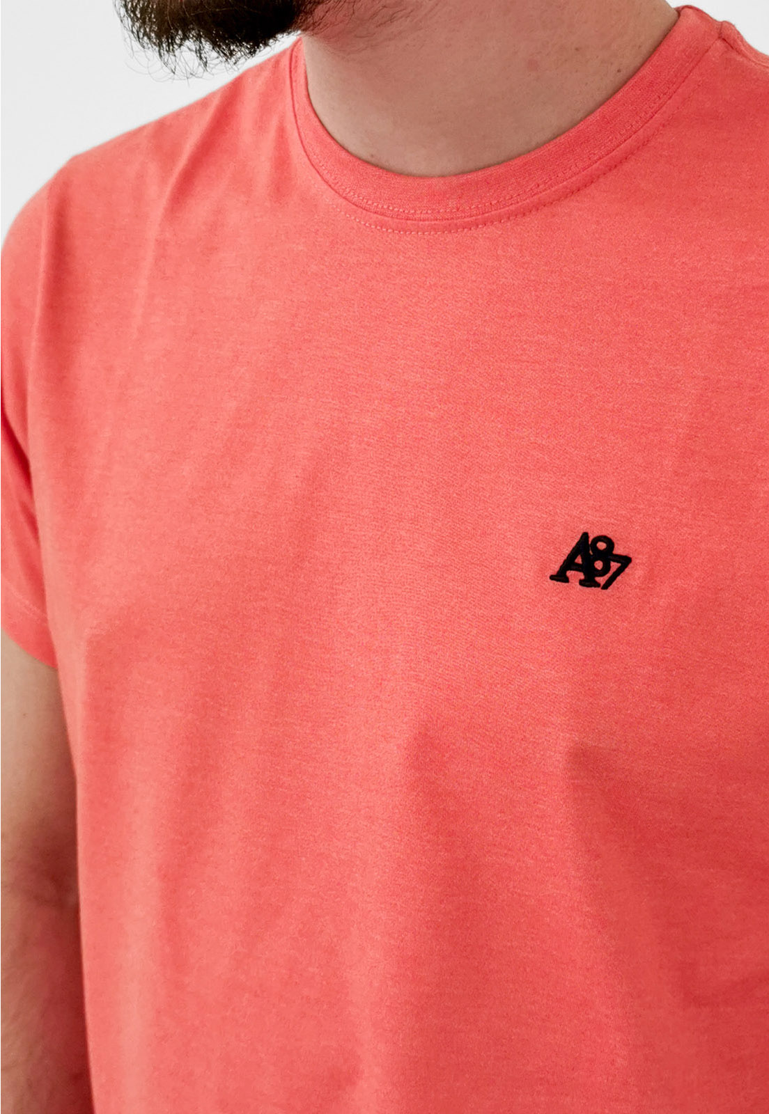 Camiseta Aéropostale Básica Laranja Logo