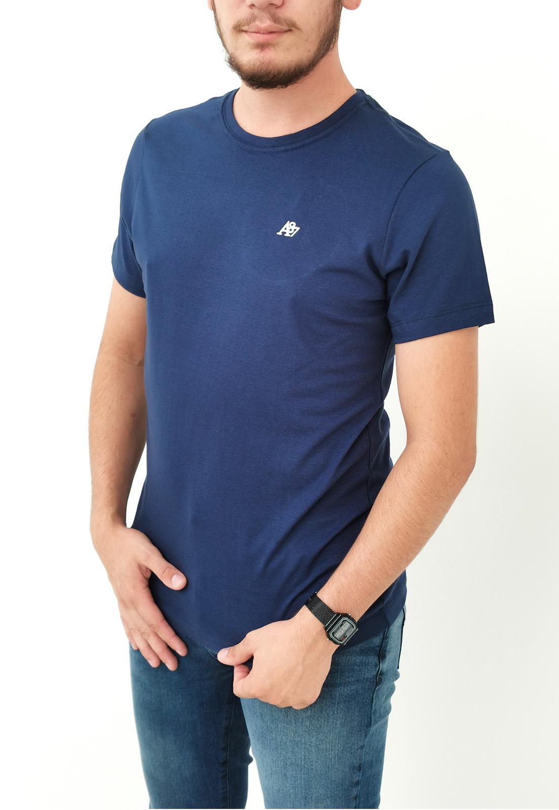 Camiseta Aéropostale Básica Slim Azul Marinho