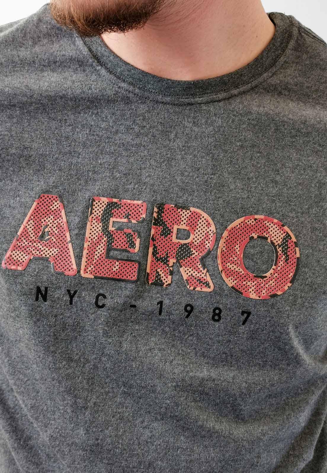 Camiseta Aéropostale Cinza Mescla