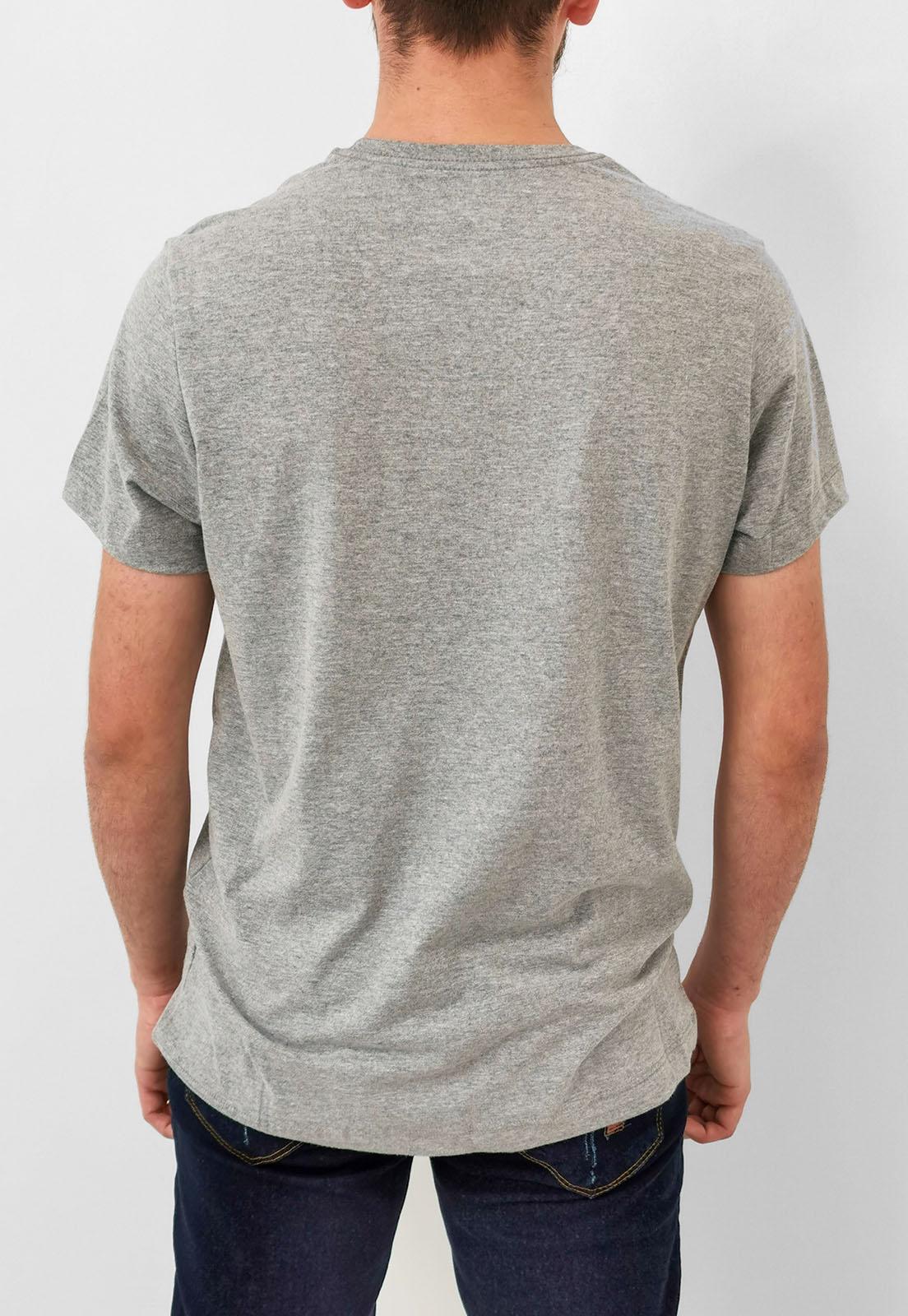 Camiseta Aéropostale Cinza Mescla Logo