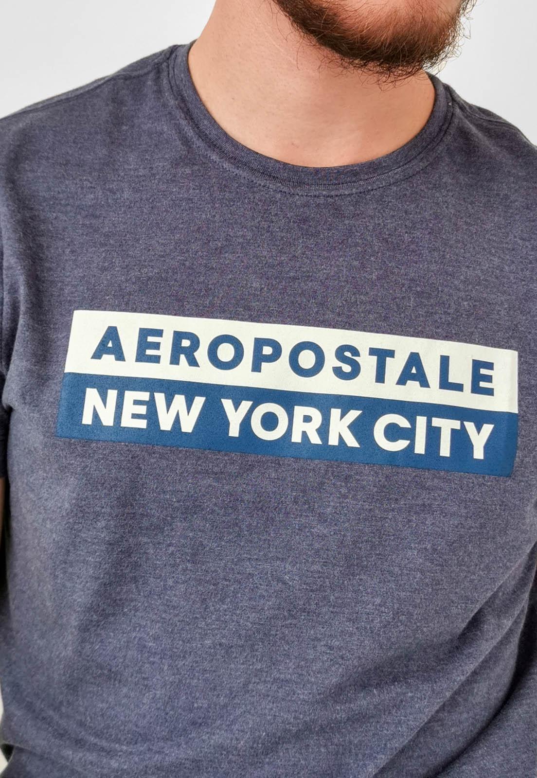 Camiseta Aéropostale Mescla Azul Marinho