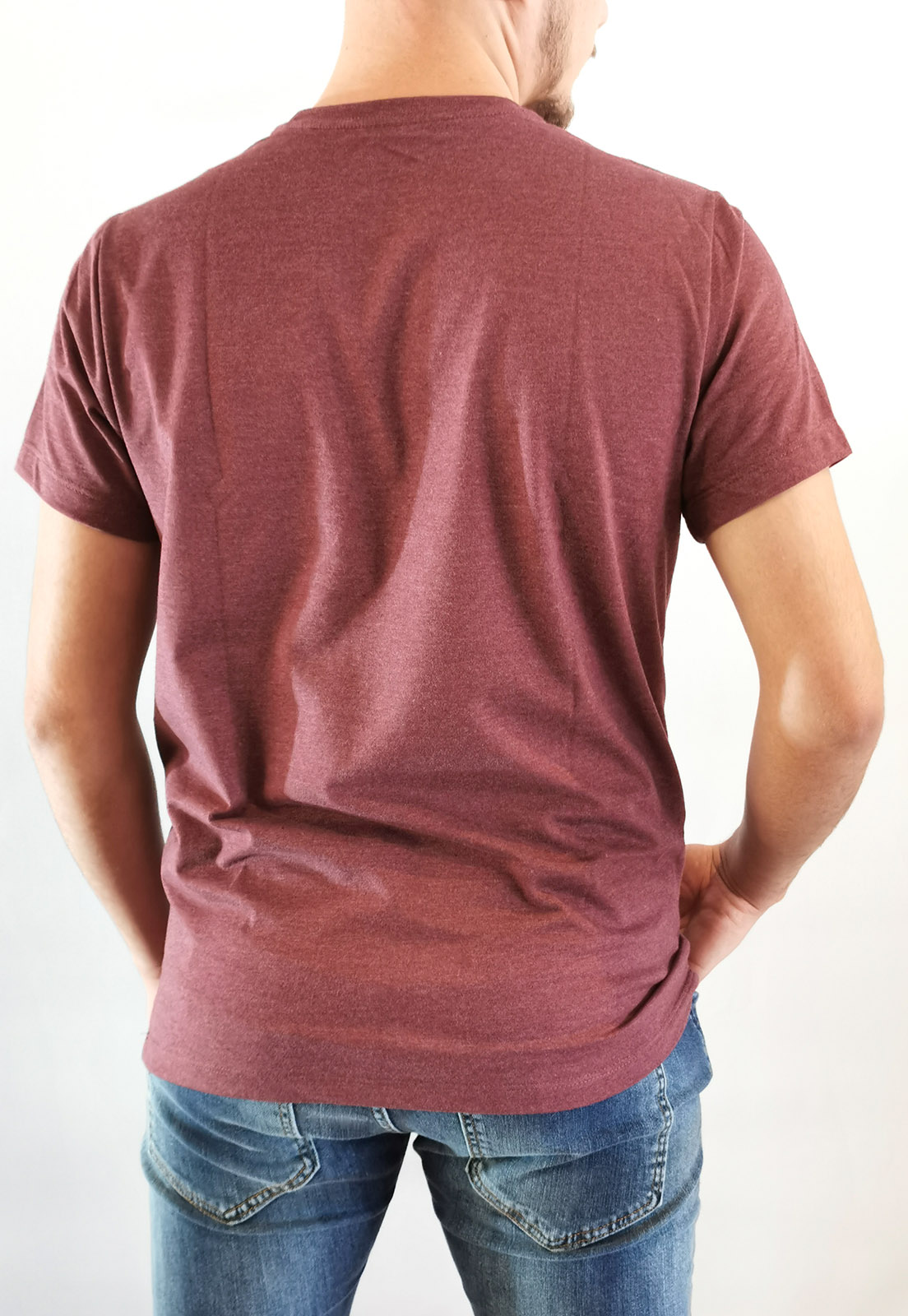 Camiseta Aéropostale Mescla Bordô Básica