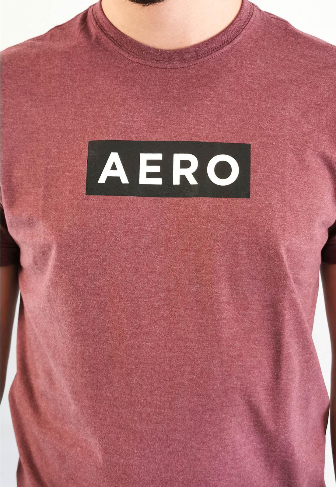 Camiseta Aéropostale Mescla Bordô Logo
