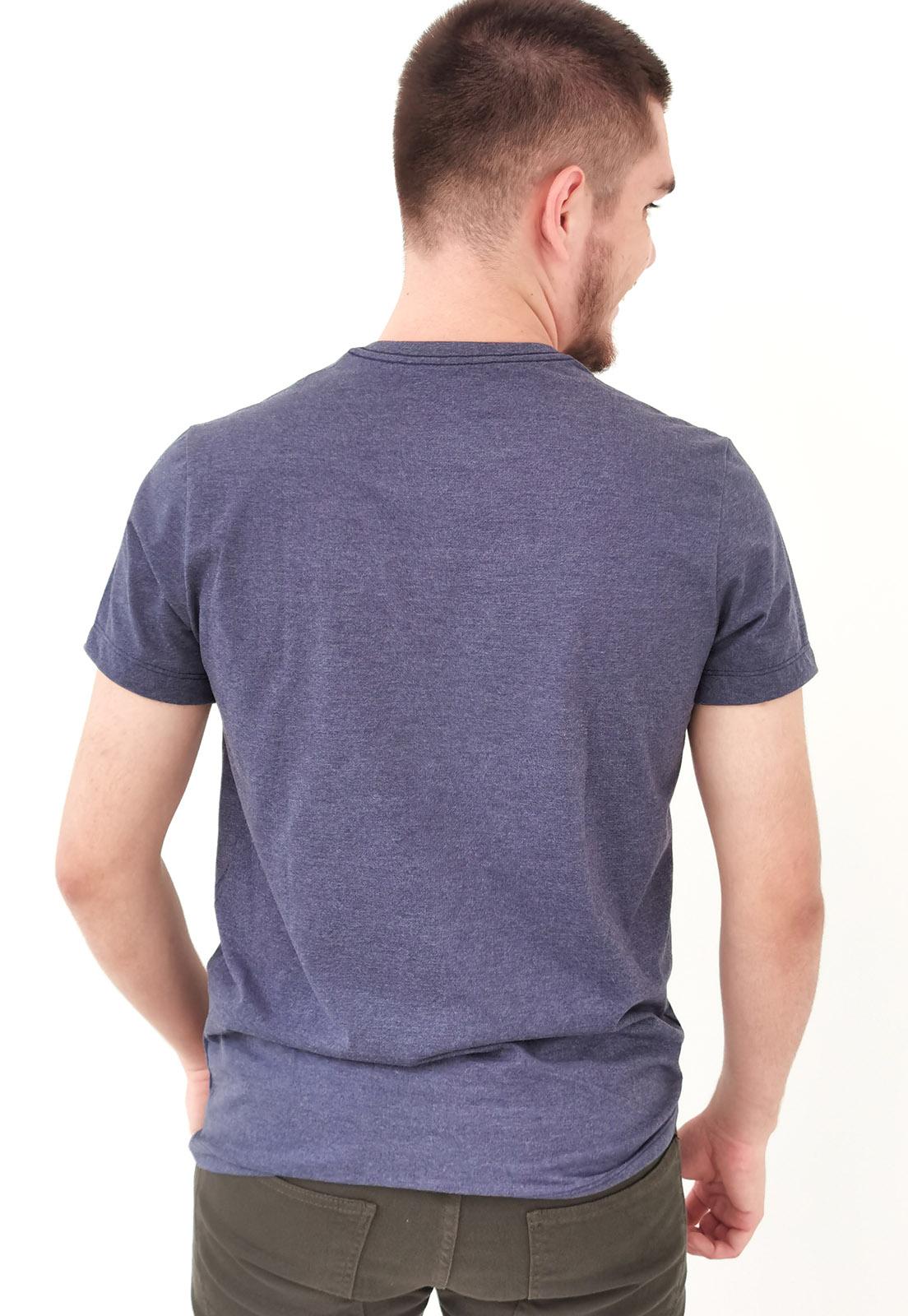 Camiseta Aéropostale Mescla Marinho Básica Plus Size