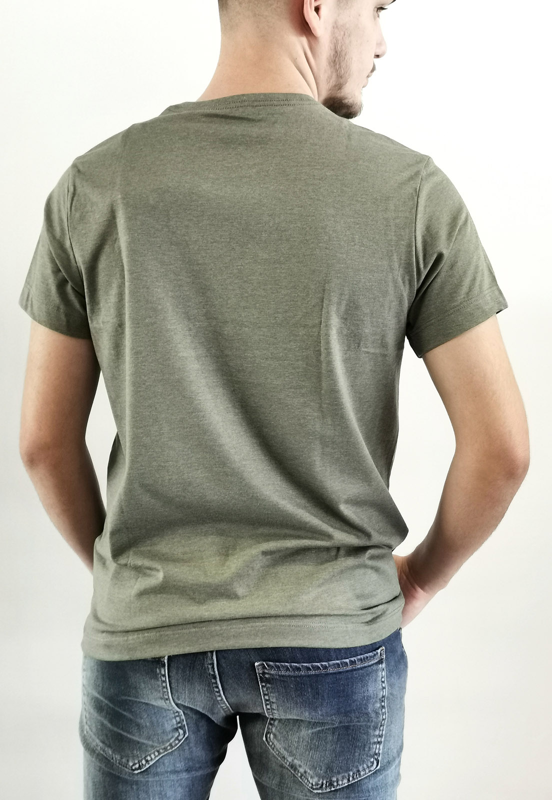 Camiseta Aéropostale Mescla Verde Básica