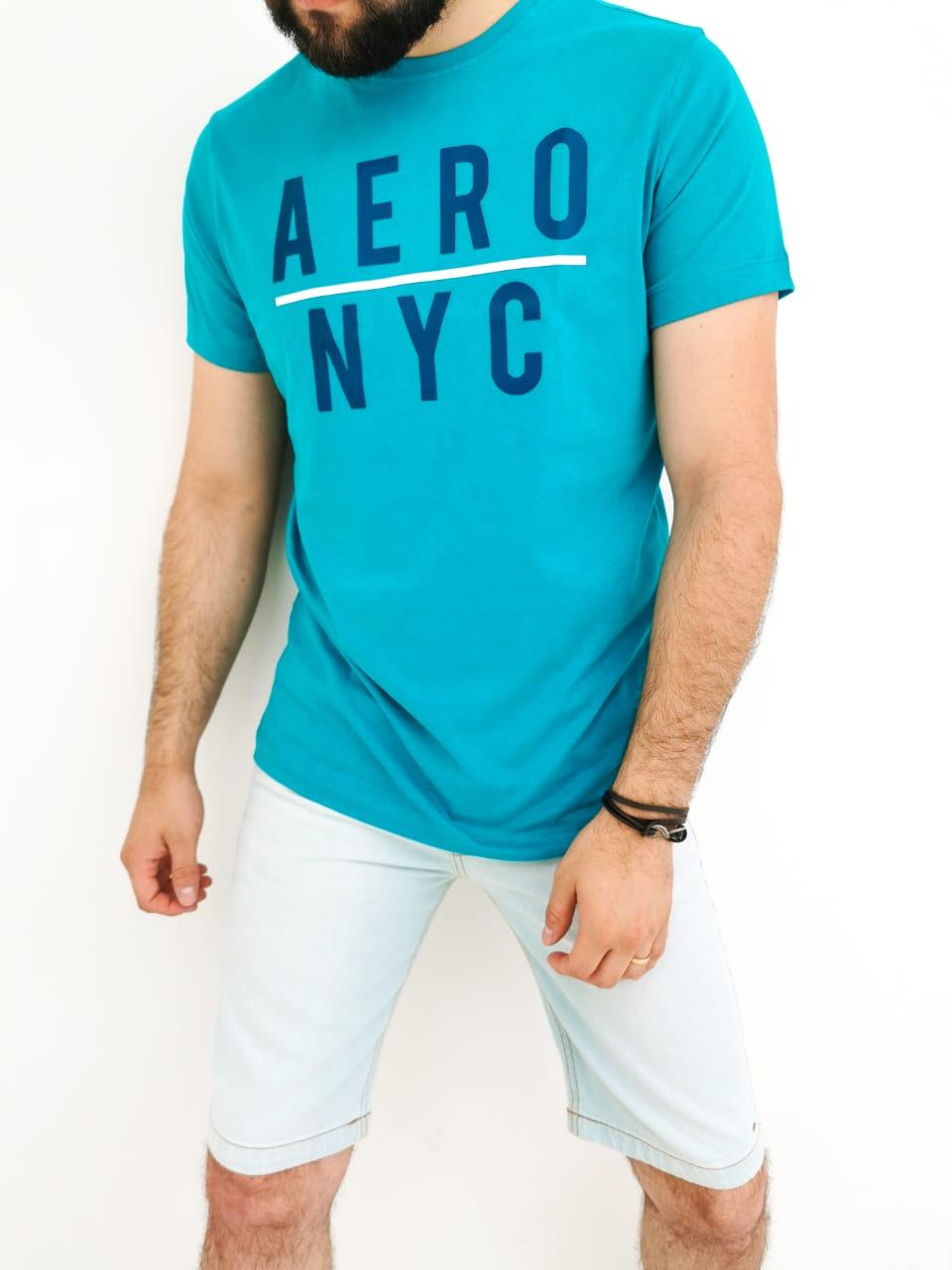 Camiseta Aéropostale Slim Verde NYC