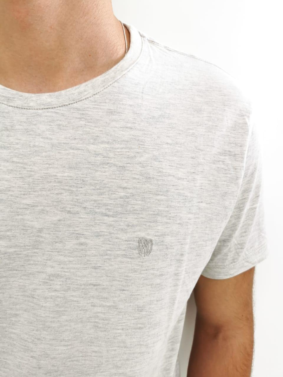Camiseta Básica Lozemar Bege Mescla