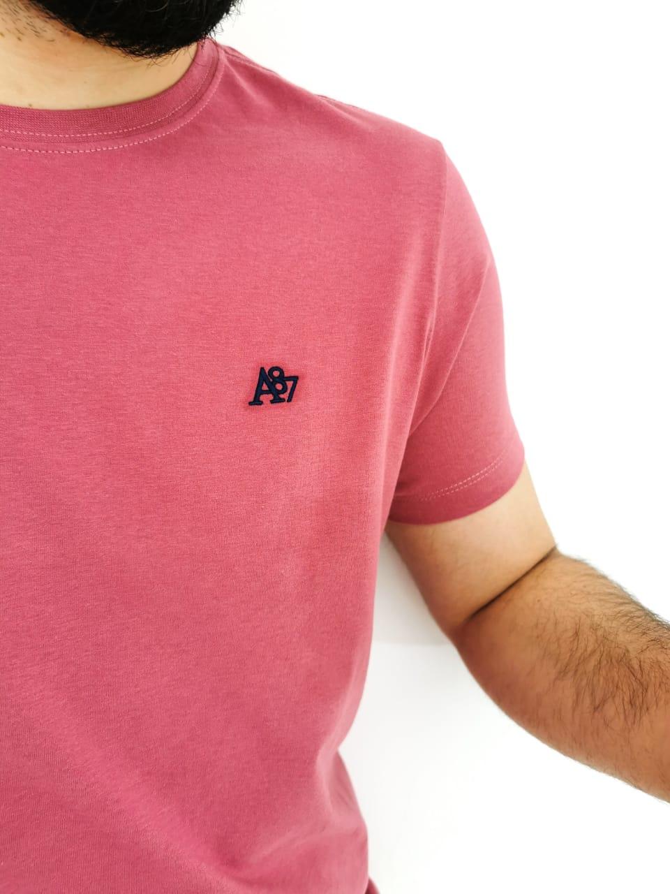 Camiseta Aéropostale Básica Slim Rosa