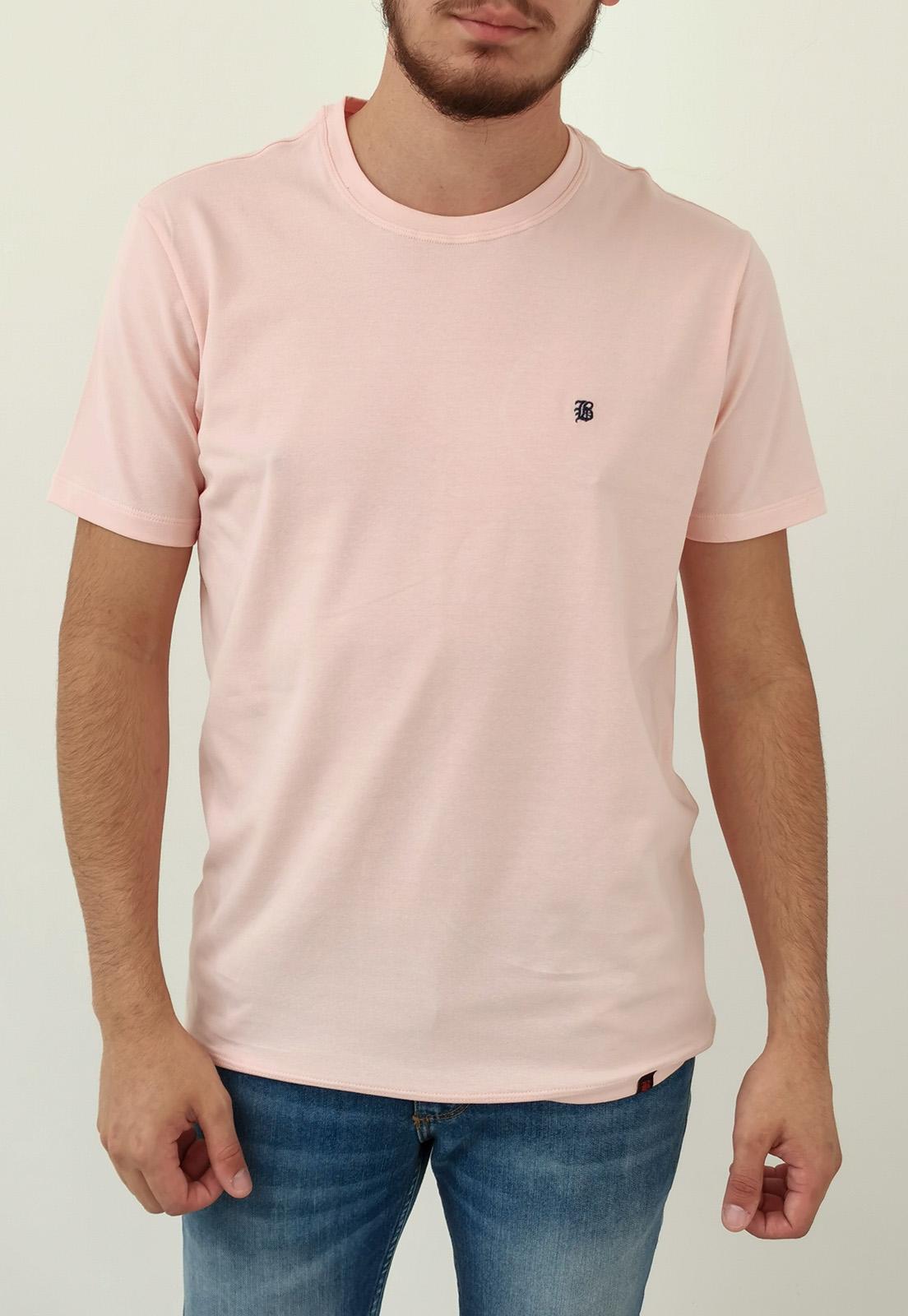 Camiseta Baumgarten Básica Rosa Elastano