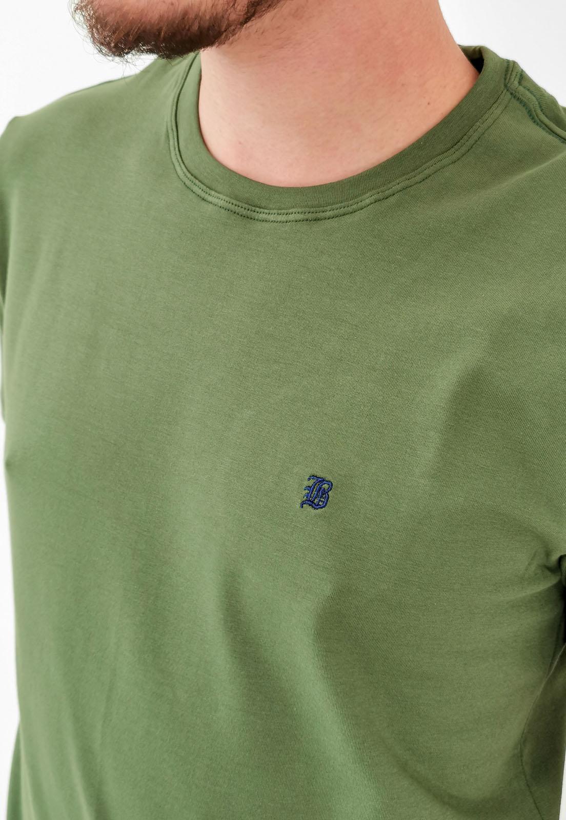 Camiseta Baumgarten Básica Verde Elastano