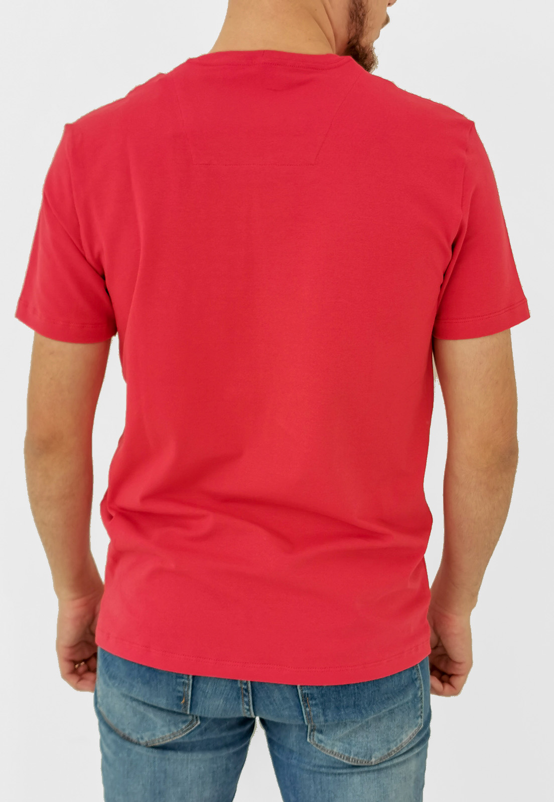Camiseta Baumgarten Básica Vermelho Elastano
