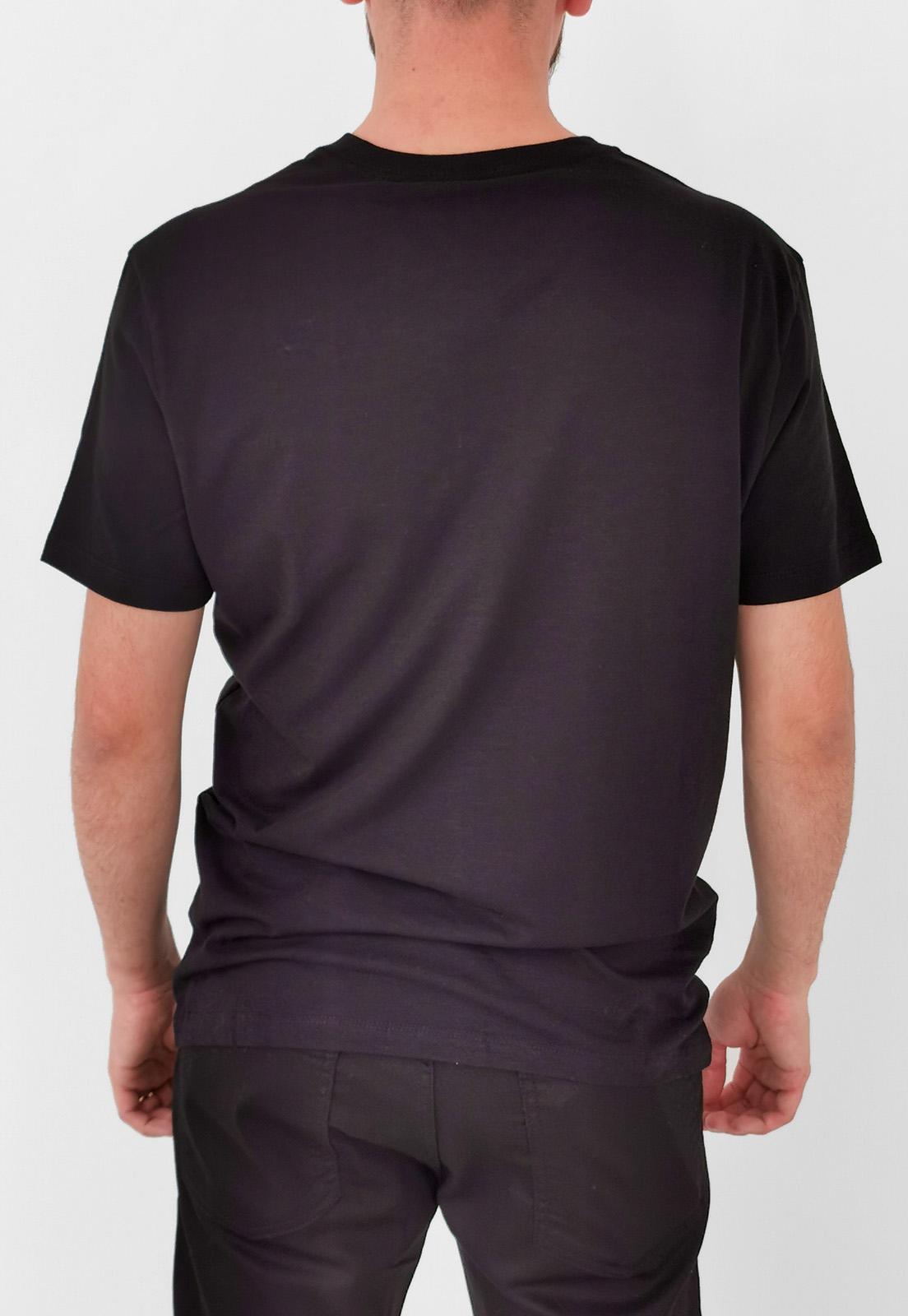Camiseta Calvin Klein Básica Gola V Preto Logo