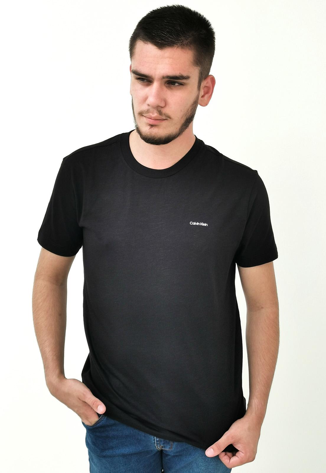 Camiseta Calvin Klein Básica Preto