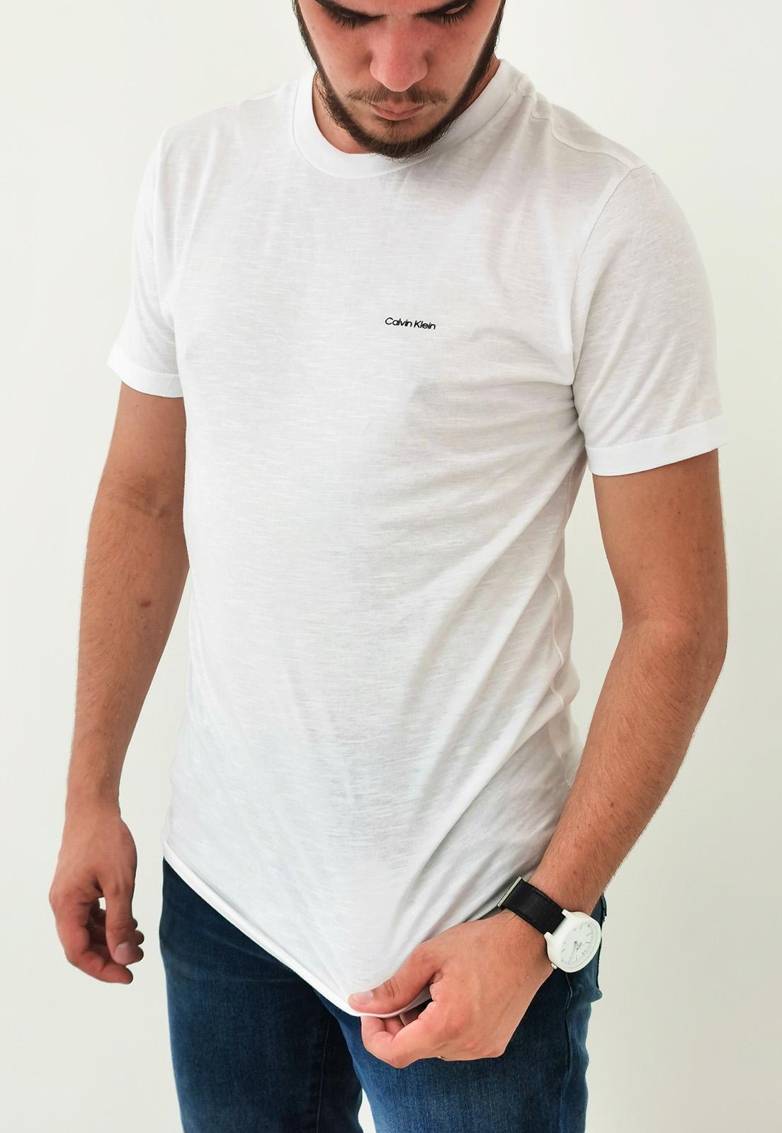 Camiseta Calvin Klein Branco Básica
