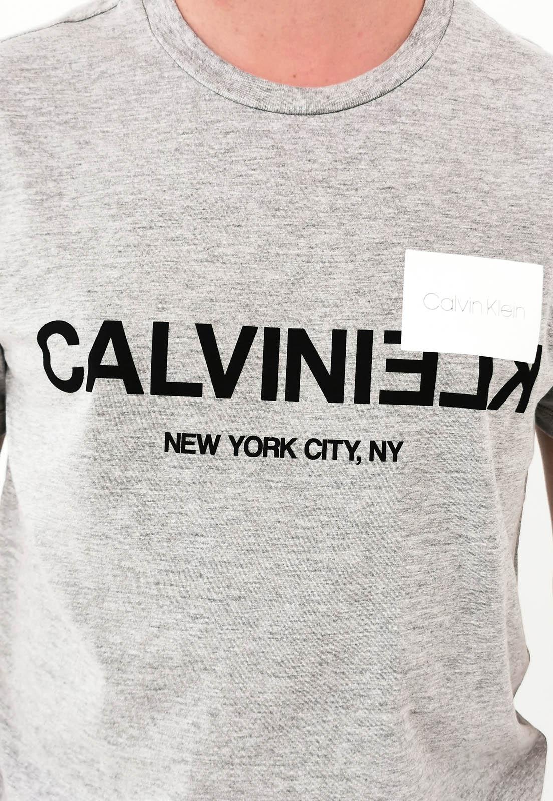 Camiseta Calvin Klein Cinza Mescla