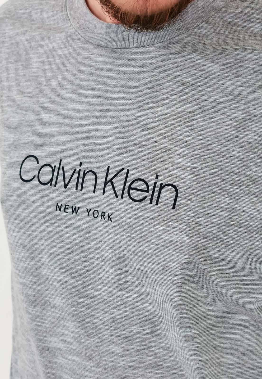 Camiseta Calvin Klein Mescla Azul Claro