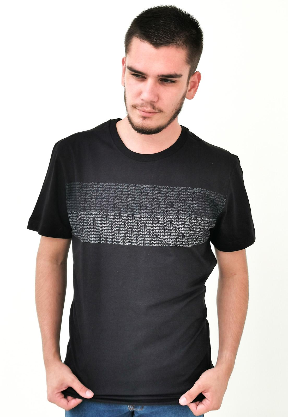Camiseta Calvin Klein Preto Logo Mini