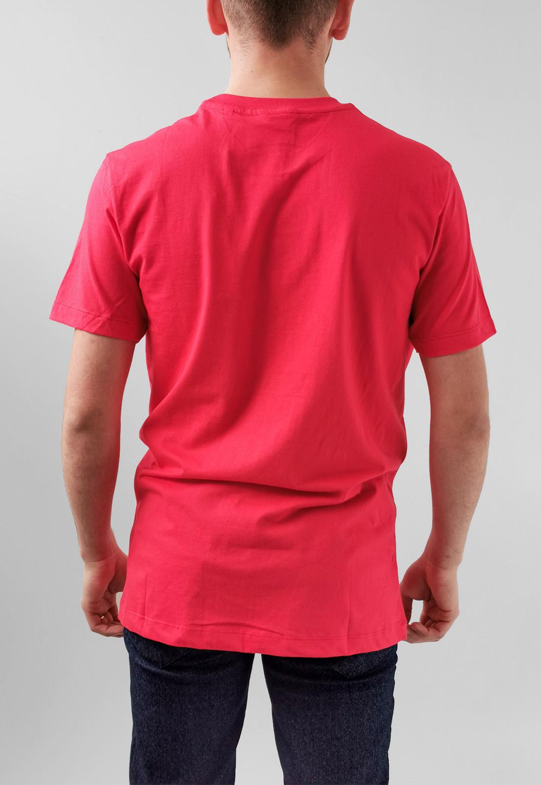 Camiseta Calvin Klein Vernelho Logo Relevo