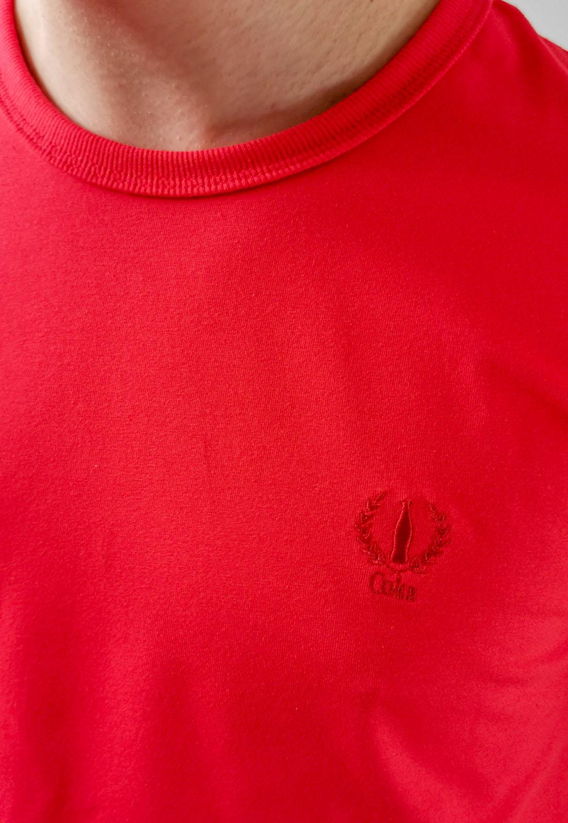 Camiseta Coca-Cola Básica Vermelho Logo Com Elastano