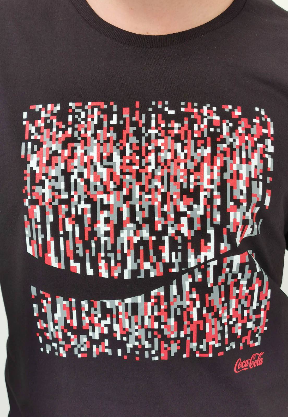 Camiseta Coca-Cola Preto Mosaico