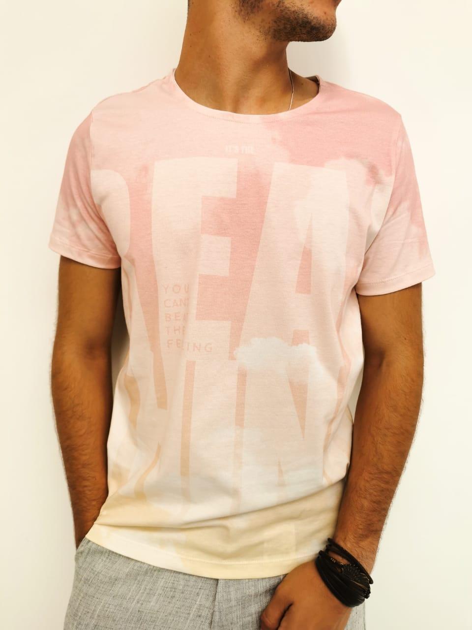 Camiseta Coca-Cola Rosa
