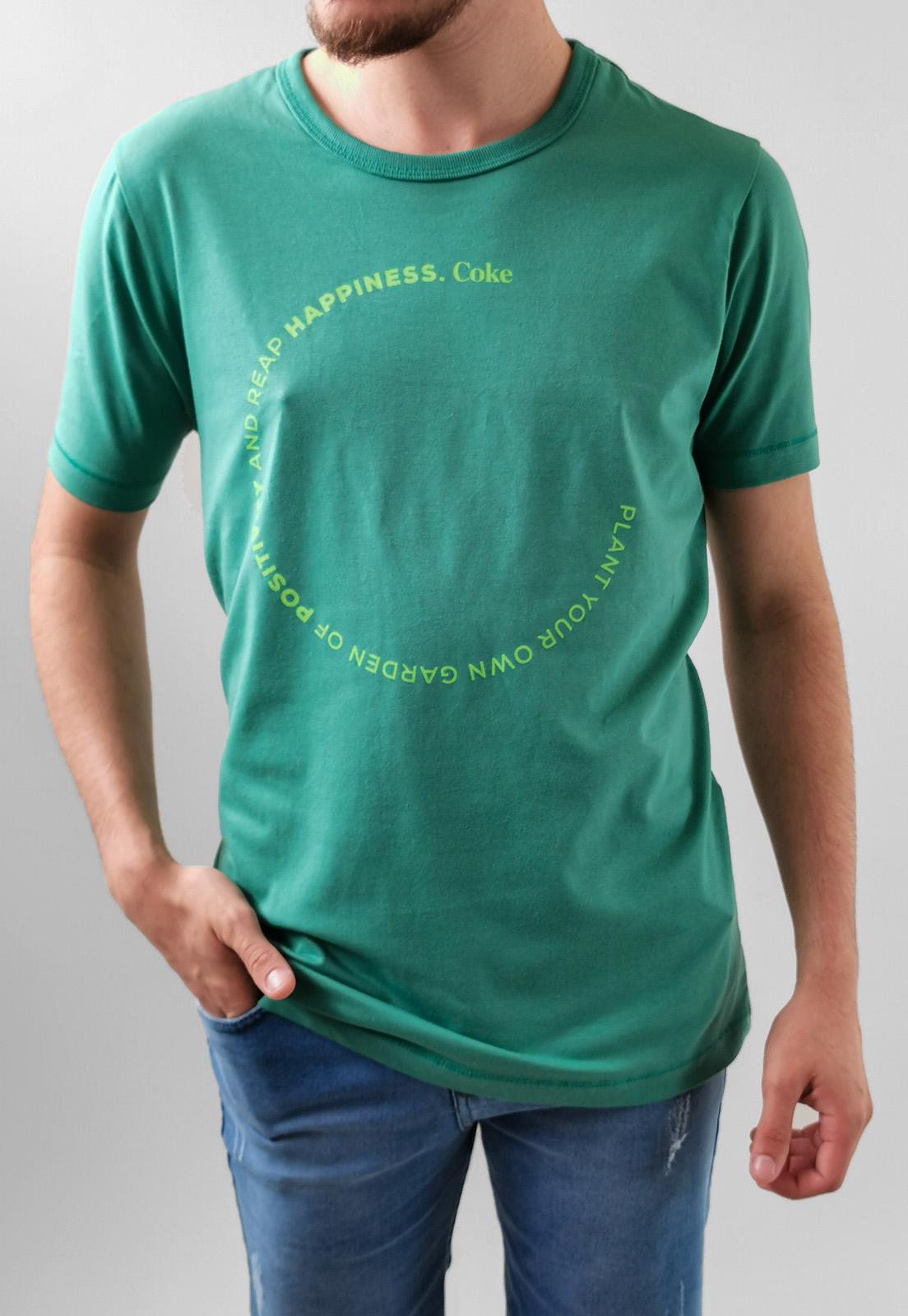 Camiseta Coca-Cola Verde Happiness