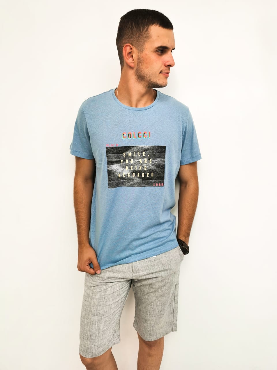 Camiseta Colcci Azul