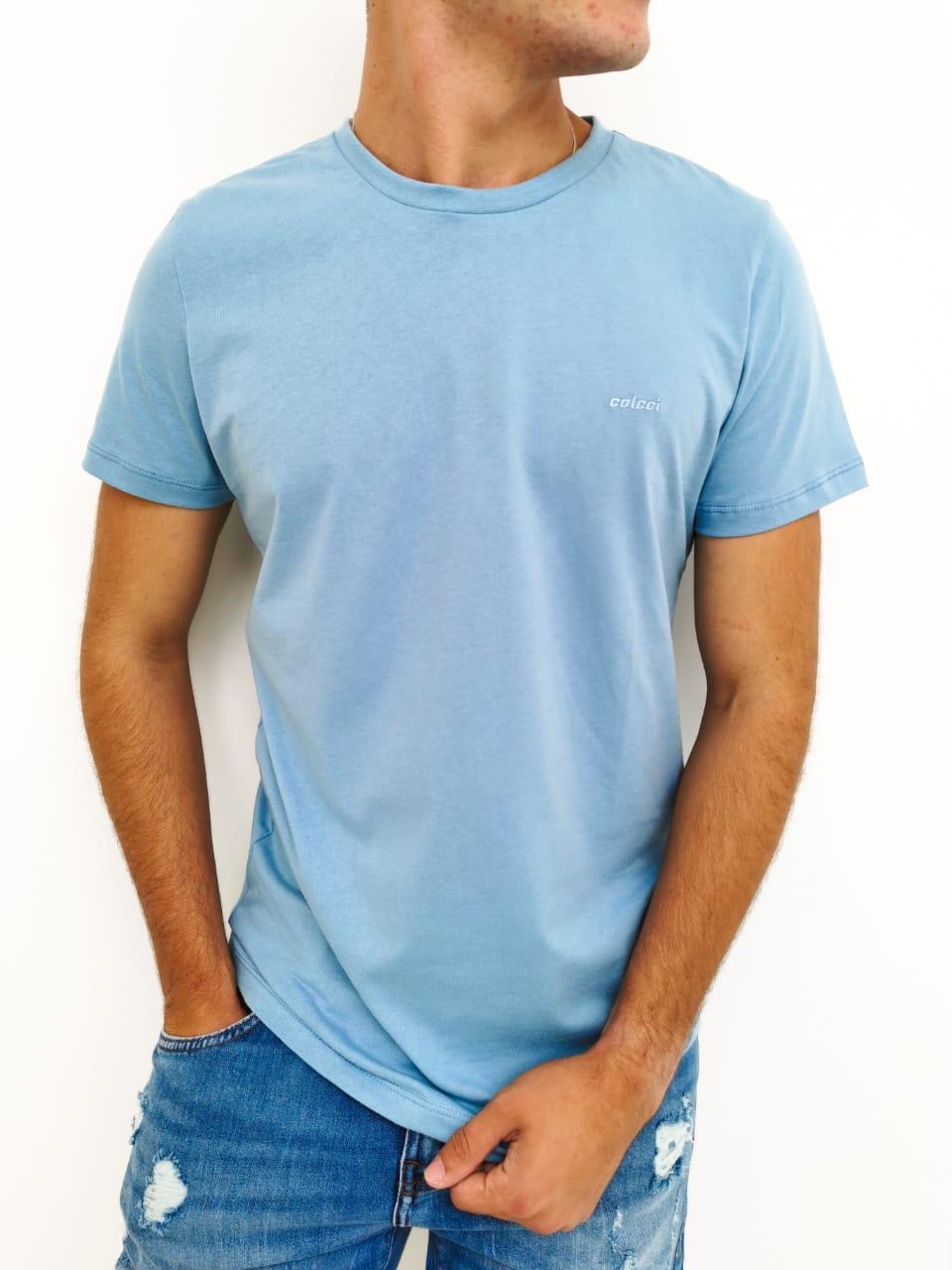 CamIseta Colcci Azul Básica