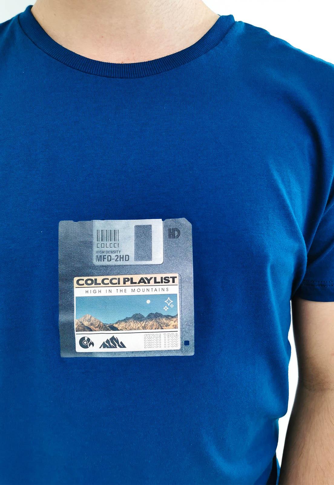 Camiseta Colcci Azul Playlist