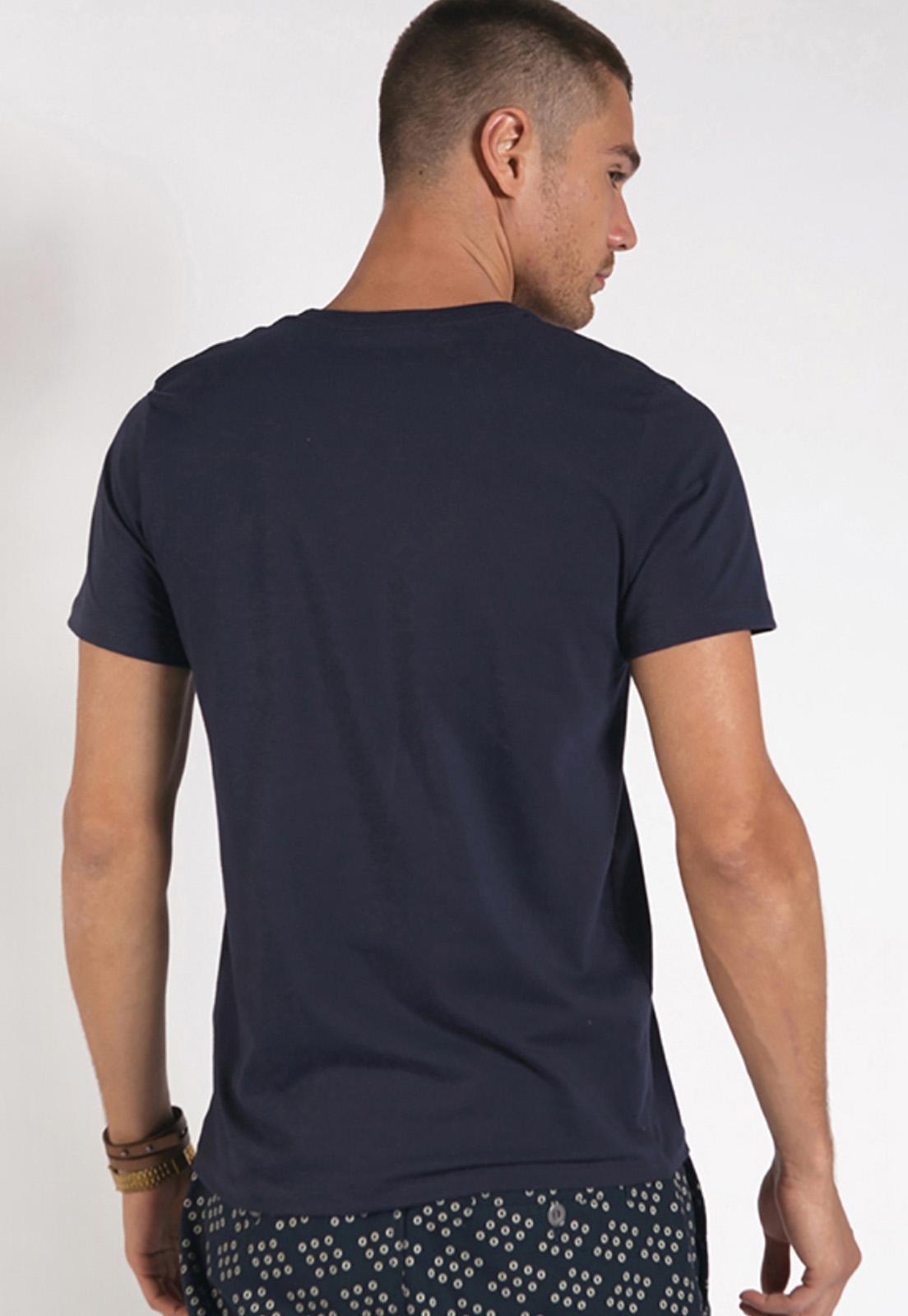 Camiseta Colcci Básica Marinho Com Elastano