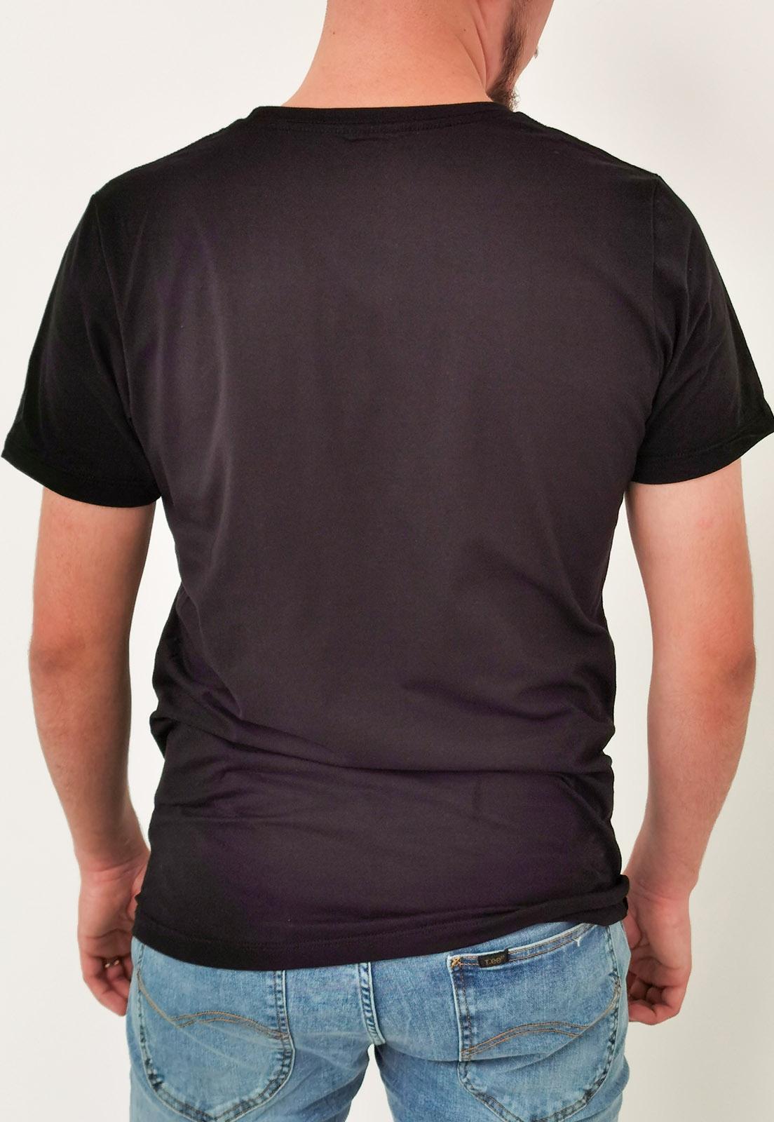 Camiseta Colcci Básica Preta com Bordado