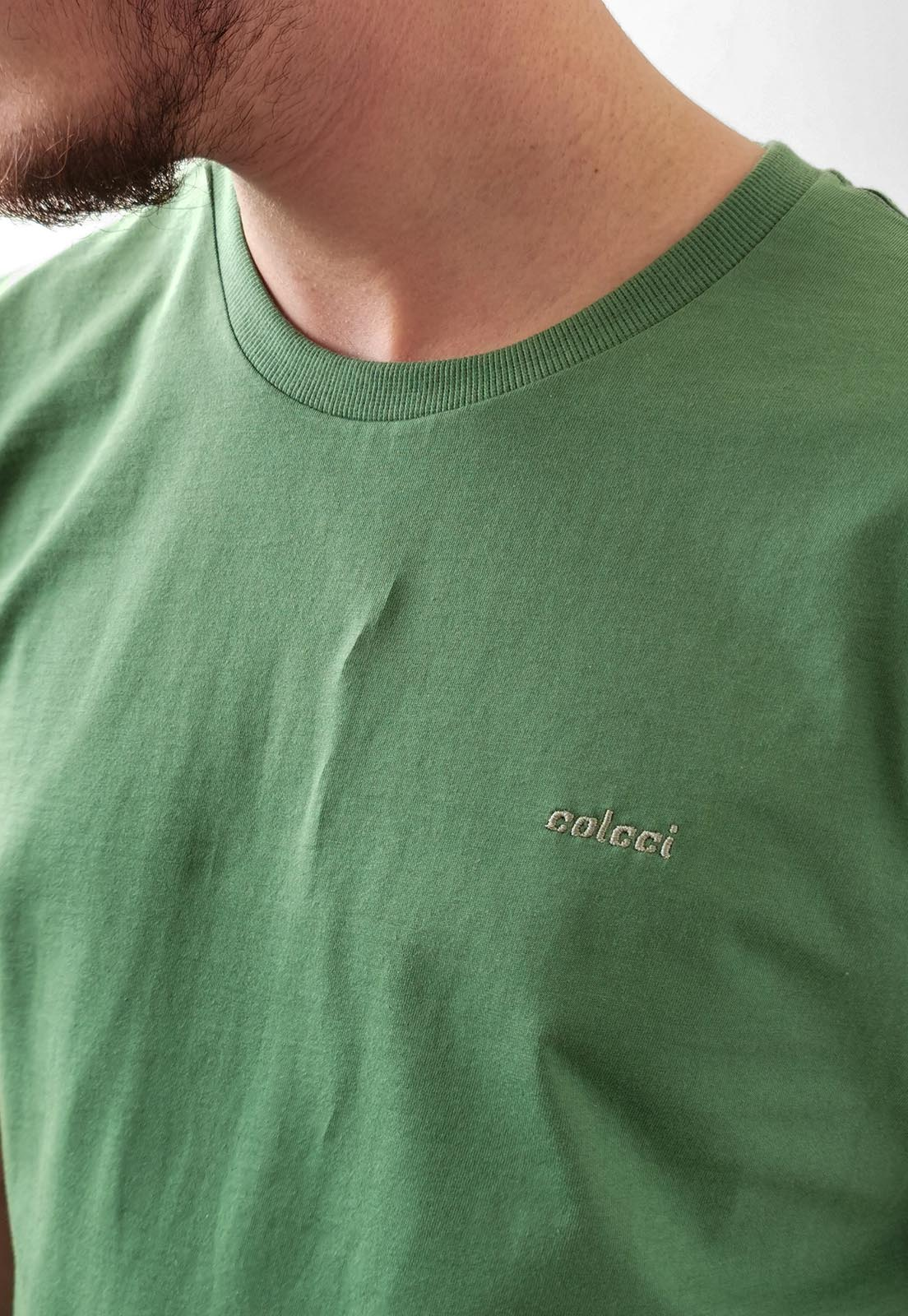 Camiseta Colcci Básica Verde Logo