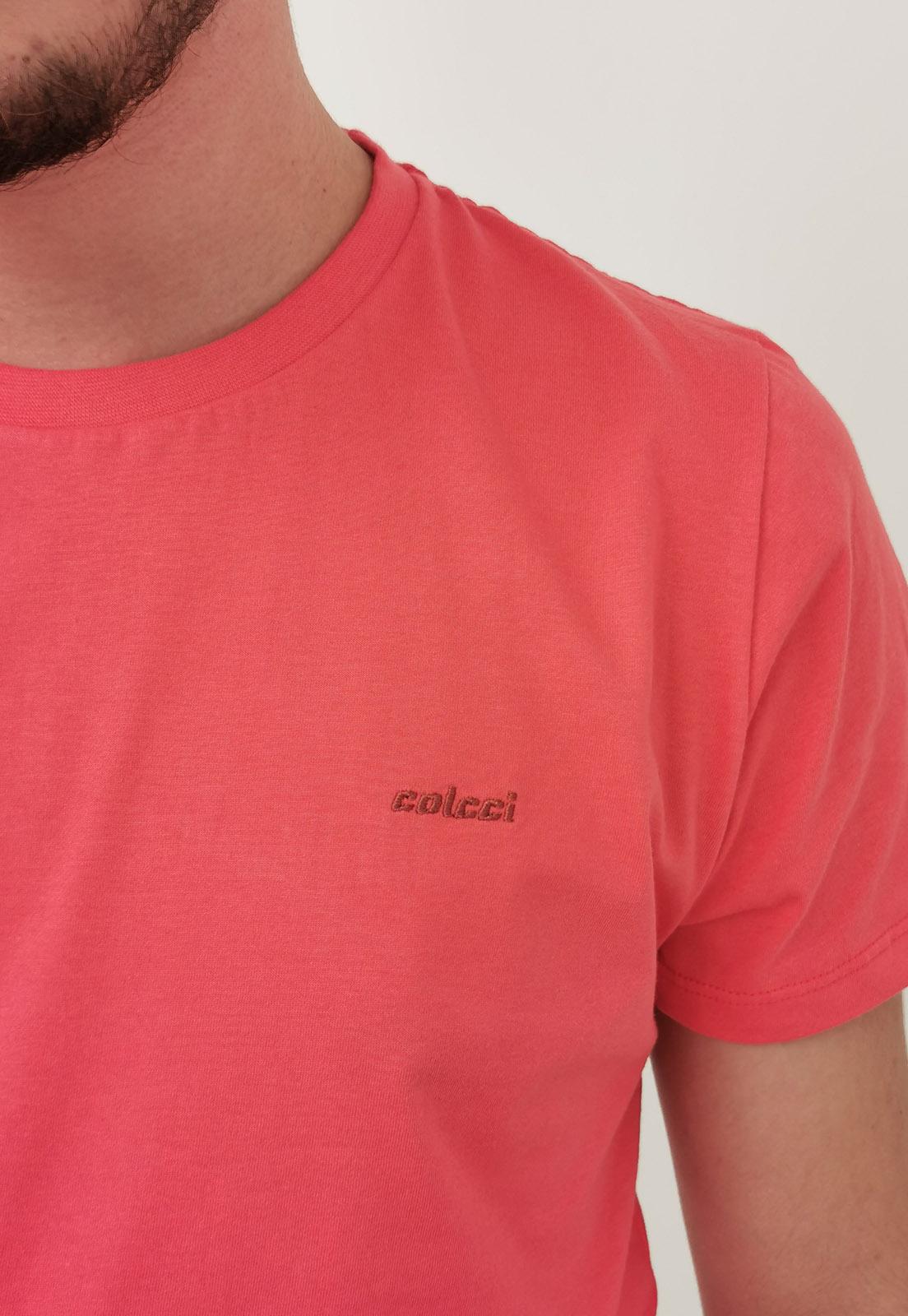 Camiseta Colcci Básica Vermelho Pena