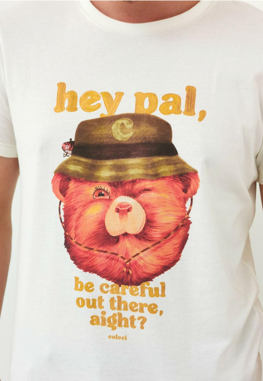 Camiseta Colcci Bear Off White