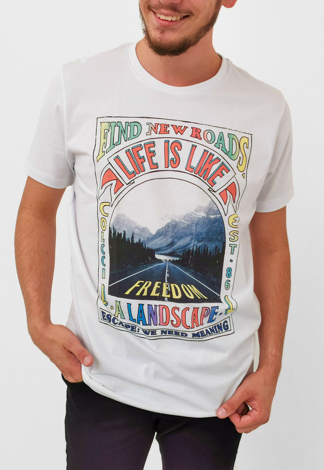 Camiseta Colcci Branco Life is Like