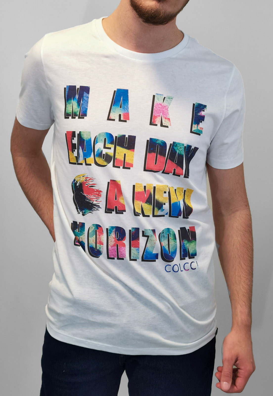 Camiseta Colcci Branco New Horizon