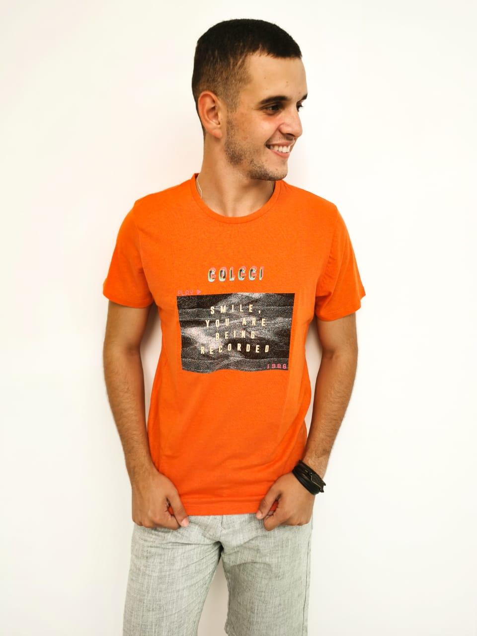 Camiseta Colcci Laranja