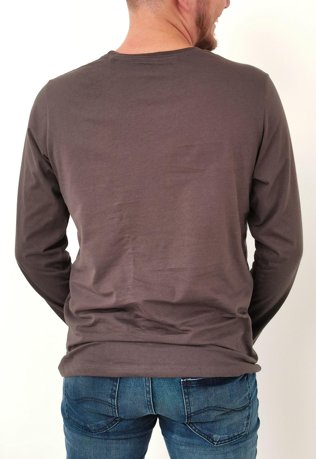 Camiseta Colcci Manga Longa Chumbo Básica
