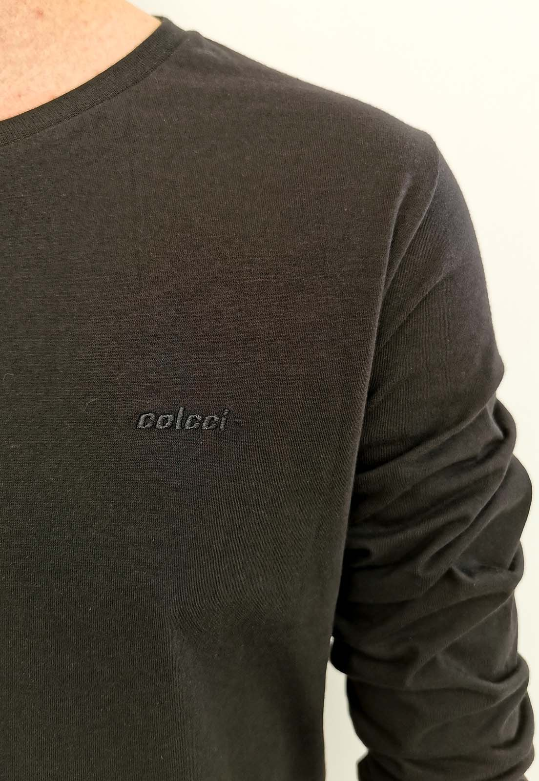 Camiseta Colcci Manga Longa Preto Básica