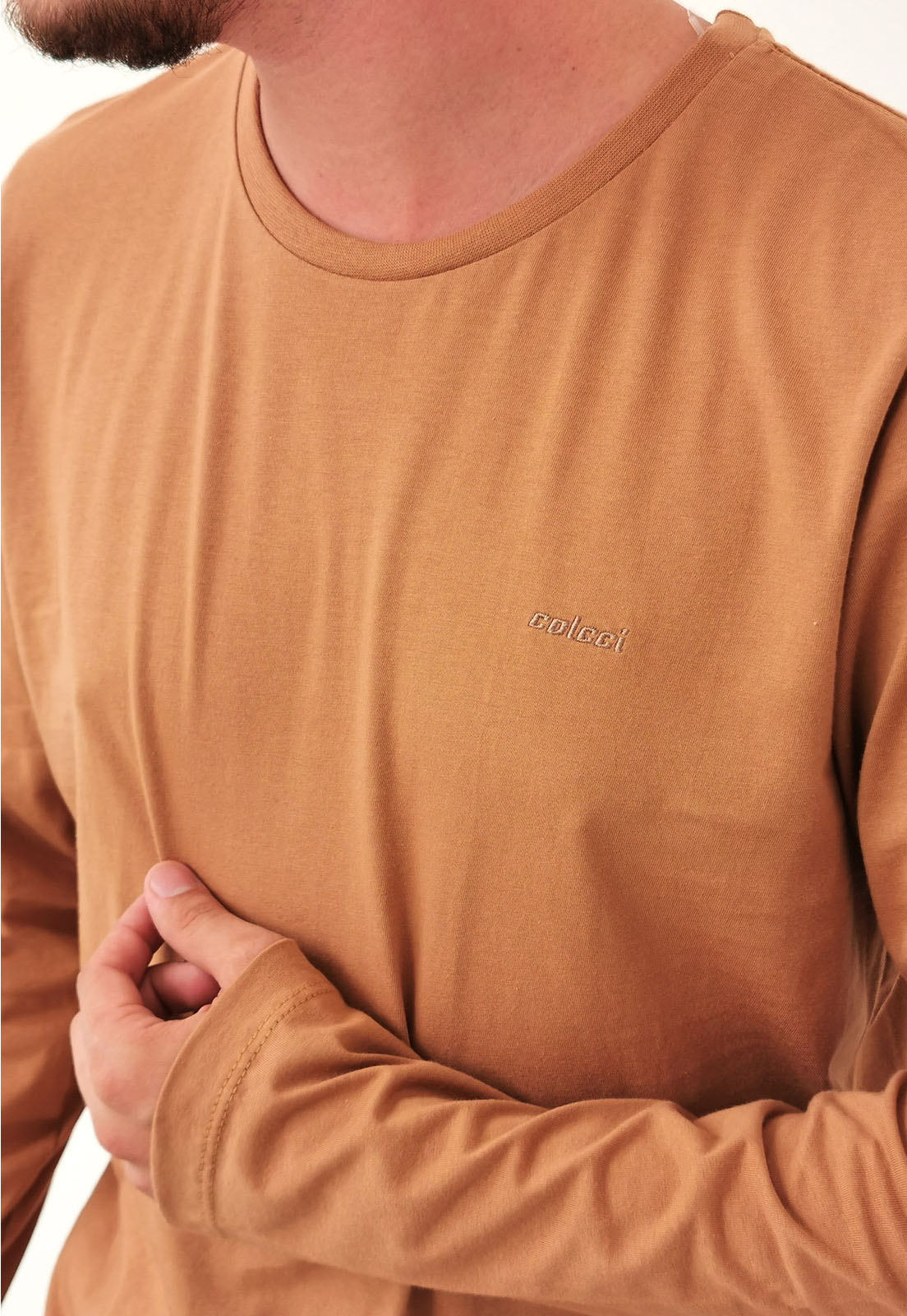 Camiseta Colcci Manga Longa Terra Básica