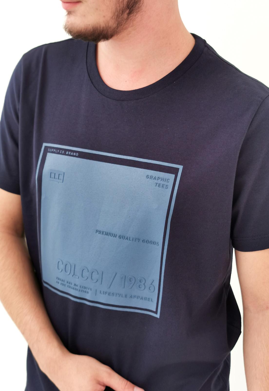 Camiseta Colcci Marinho Graphic