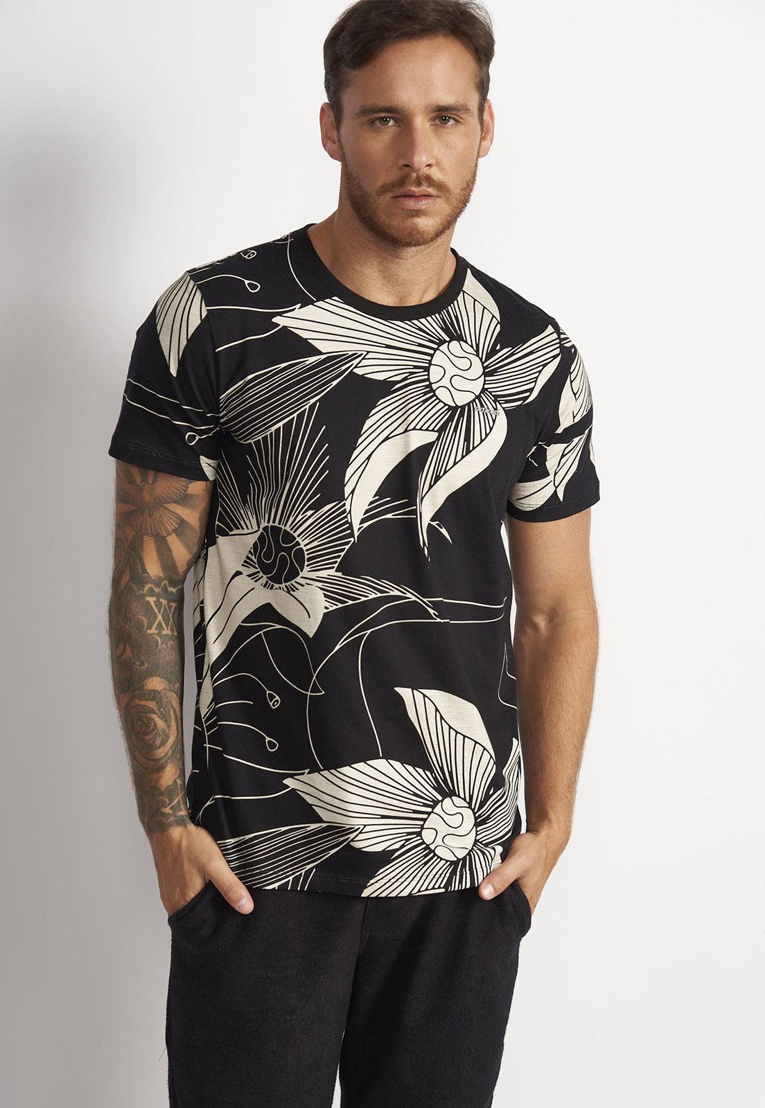 Camiseta Colcci Preto Estampado