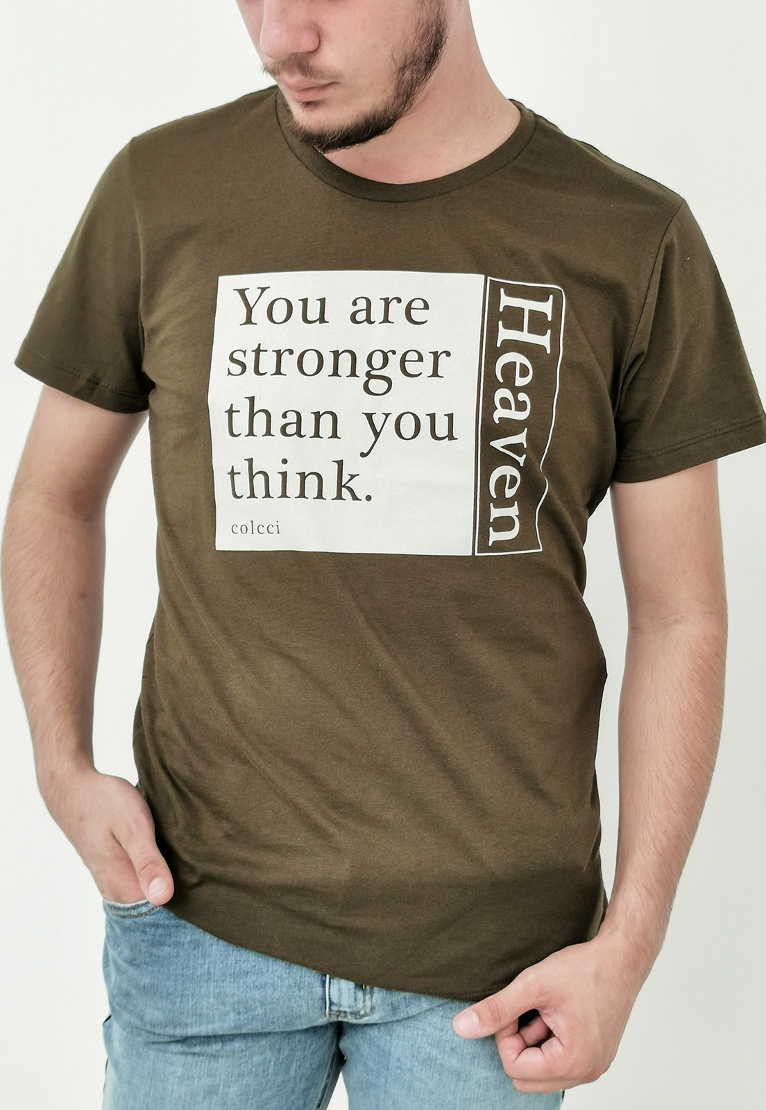 Camiseta Colcci Verde Militar Heaven