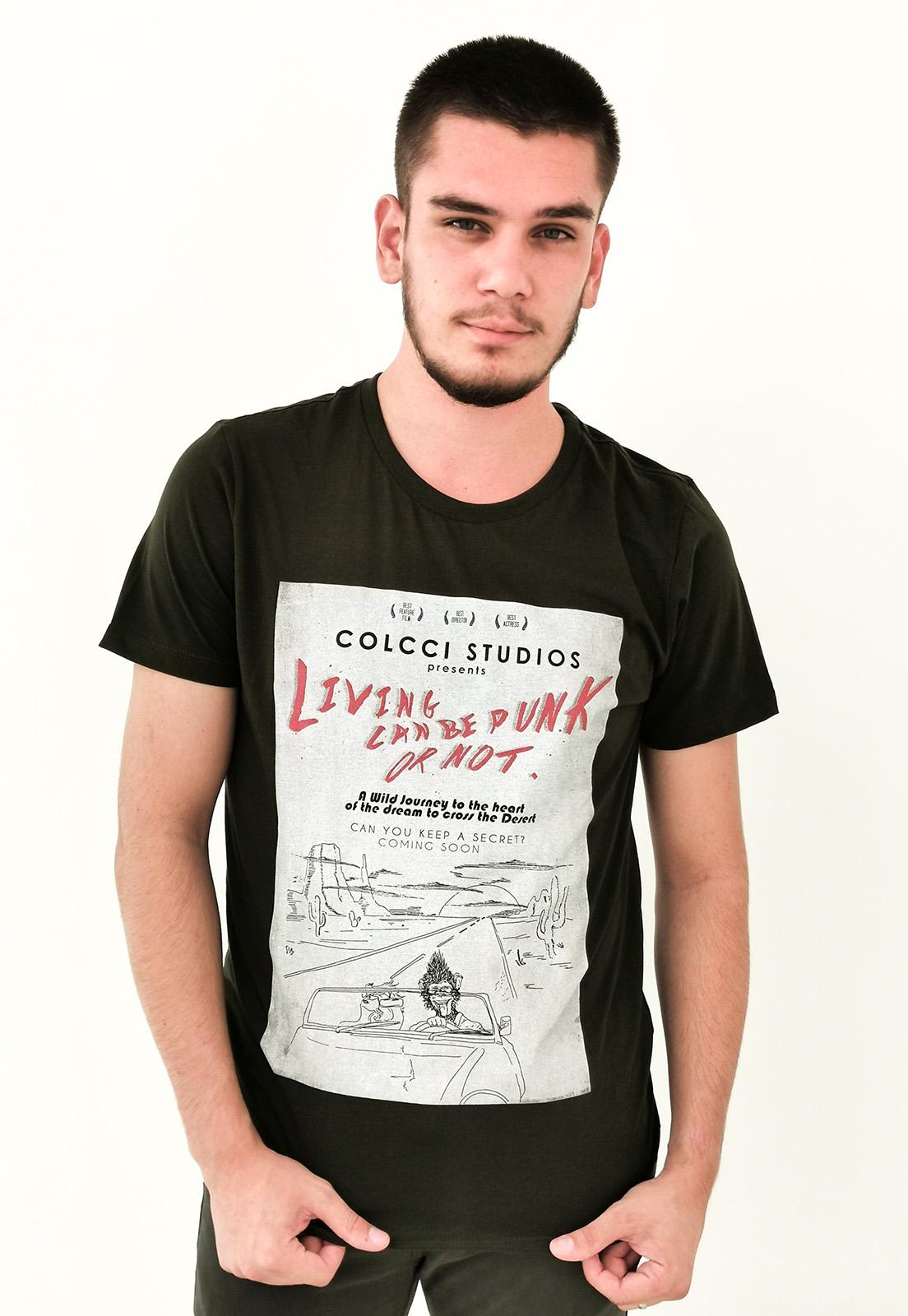 Camiseta Colcci Verde Militar Studios
