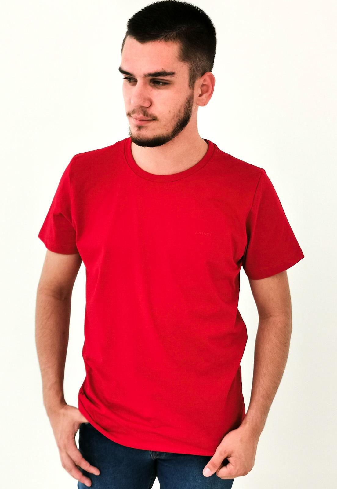 Camiseta Colcci Vermelho Básica